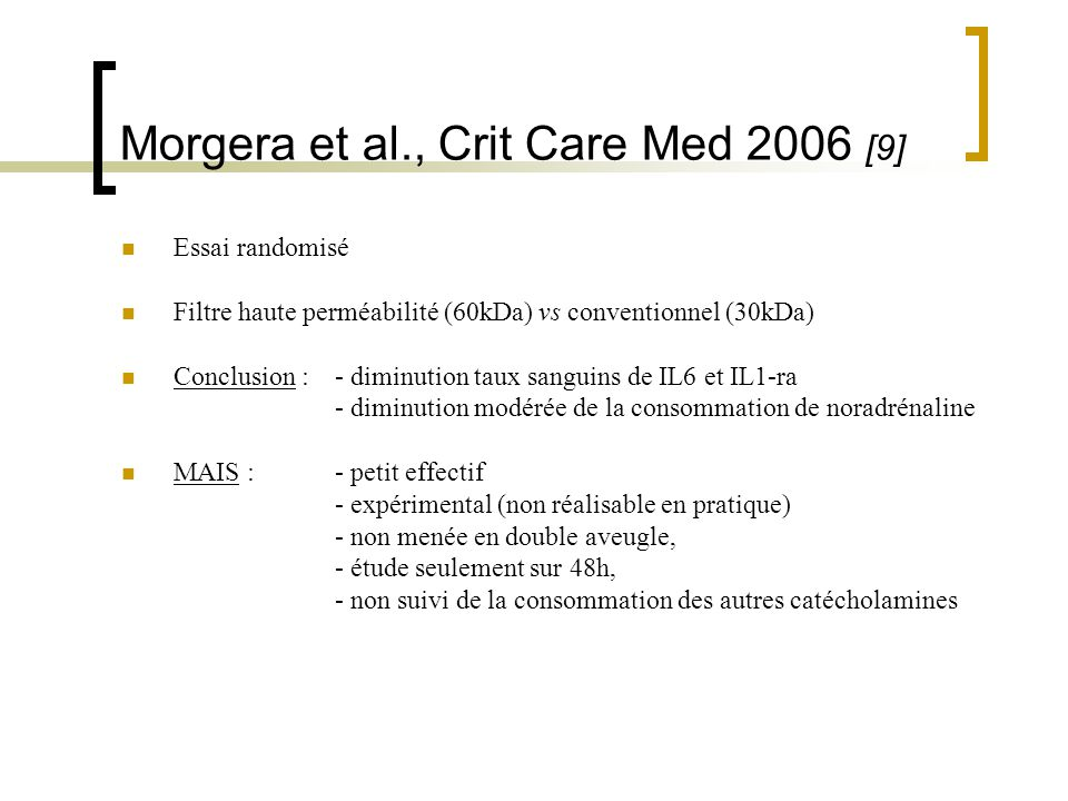 Morgera et al., Crit Care Med 2006 [9]
